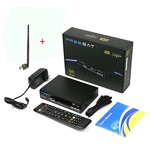 Genuine Free Sat HD 1080P Digital V8 Super Satellite Receiver DVB-S2 Satellite Decoder Free To Air...