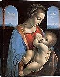 Art Print Cafe – Cuadros Famosos en Canvas - Leonardo da Vinci, Madonna Litta, Virgen con niño – Impresion sobre Lienzo 120x90 cm