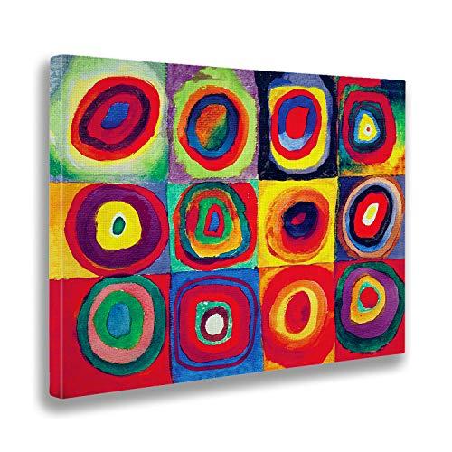 Giallobus - Cuadro - Impresion en Lienzo Kandinsky - Cuadro Abstracto - Estudio de Color- Pinturas Modernas de lienzos - Varios formatos - 100 x 70 CM