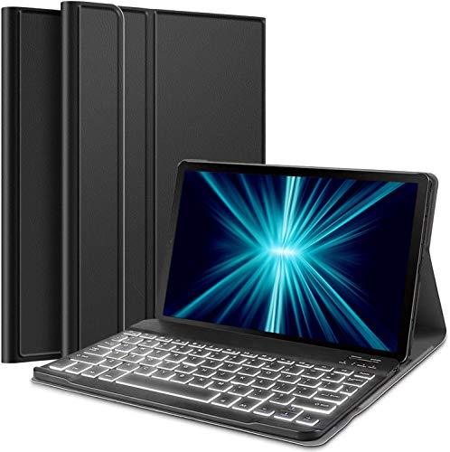 Wineecy Galaxy Tab S5e 10.5 Backlit Keyboard Case SM-T720 / T725 / T727, Protective Cover with Wireless Bluetooth Detachable Keyboard for Samsung Galaxy Tab S5E 10.5 2019 (Galaxy Tab S5e, Black)
