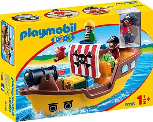 PLAYMOBIL 1.2.3 Barco Pirata, a Partir de 1.5 Años (9118)