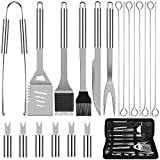 Anpro Grilling Accessories BBQ Tools Set, 21 PCS Stainless Steel Grill Kit with Case, Great Barbecue Utensil Tool for Men, Women, Dad
