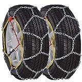 vidaXL 2x Catene Neve per Pneumatici 12mm KN120 Protezione Gomme Ruote Auto