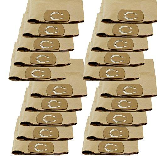 DeClean Staubsaugerbeutel Staubbeutel für Staubsauger Nass-Trockensauger 20 Stück Ersatz für CMI C NTS 1250-30XW