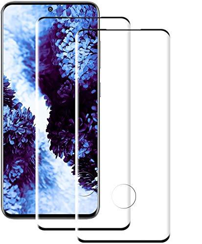 NUOCHENG Protector Pantalla de Samsung Galaxy S20 Plus (Pegamento en Toda la Pantalla) (9H Dureza) (Alta sensibilidad),Cristal Vidrio Templado/Protector de Pantalla para Samsung S20 Plus