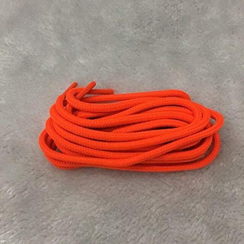KONNEN Un par de poliéster Resistente Redondos Cordones duraderos Cordones Cordones 21 Colores 70 cm 90 cm 120 cm 150 cm,Naranja,120 cm