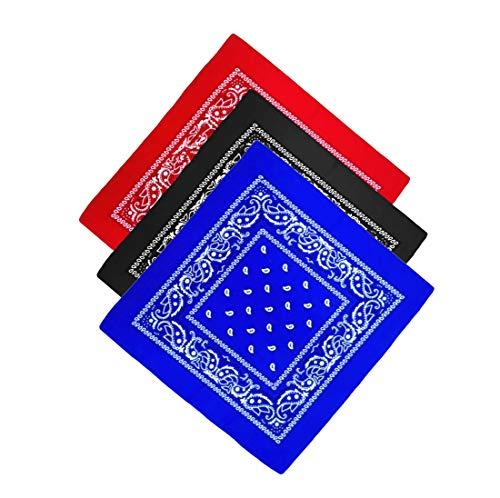 Unbekannt Bandana Kopftuch Halstuch Nickituch Biker Tuch Motorad Tuch verschied. Farben Paisley Muster, 3er Set #1, ...
