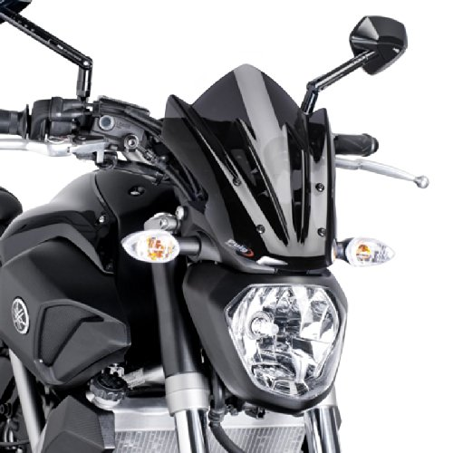 Puig 7015F Windschutzscheibe Cockpitverkleidung für Yamaha MT-07 2014, Dunkel getönt, Medium