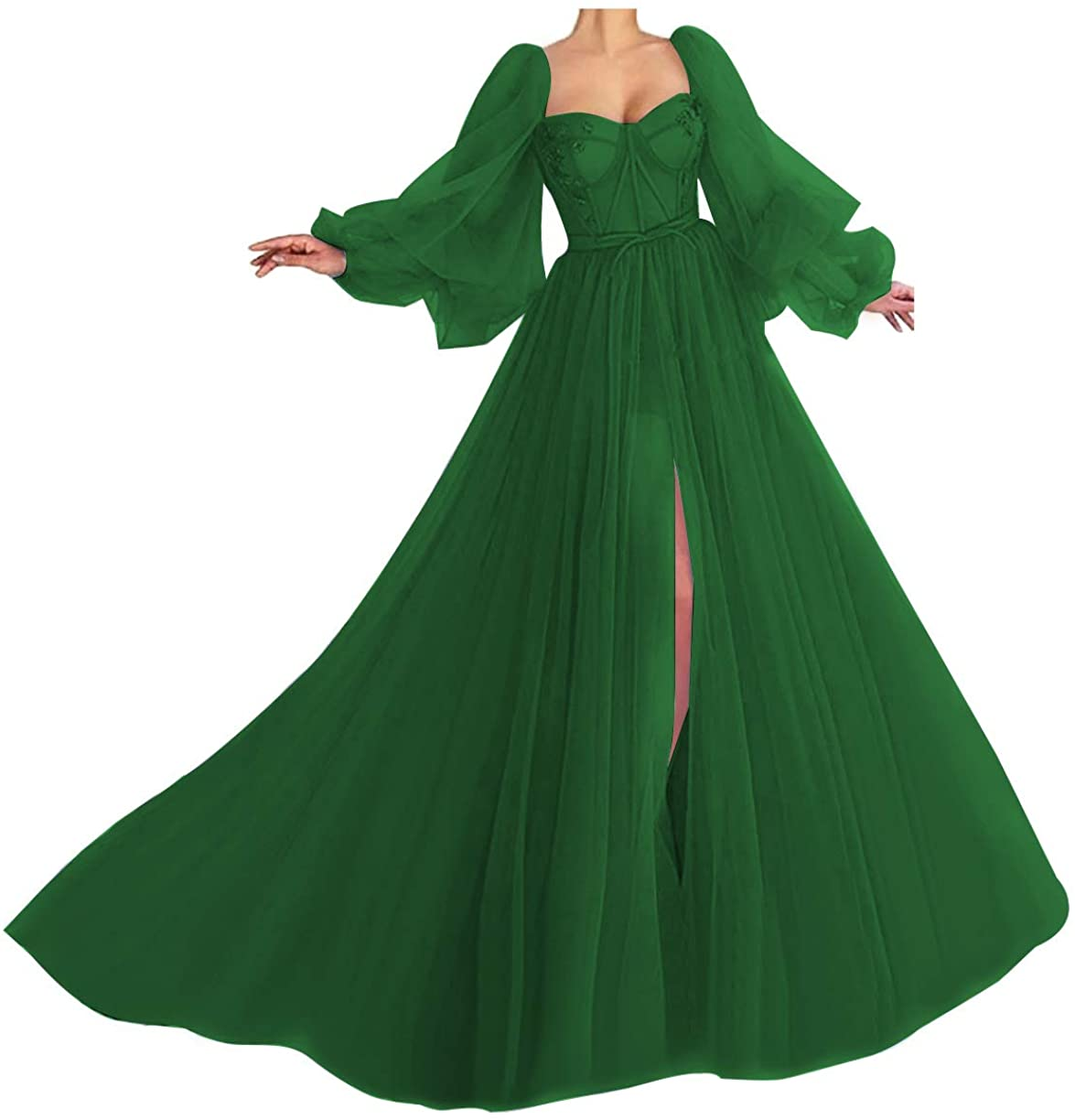 Puffy Sleeve Prom Max 90% OFF Free Shipping New Dress Tulle Wedding Sweetheart Ball Forma Gown