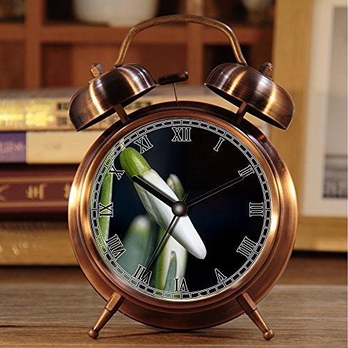 alarmclock Rã © veille-Matin, Retro portátil Twin Bell en Plus de rã © Veil con lamparilla 578.Scrapbook página Flower Music Sheet