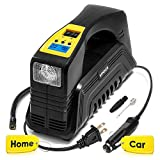 Kensun AC/DC Digital Tire Inflator for Car 12V DC and Home 110V AC...