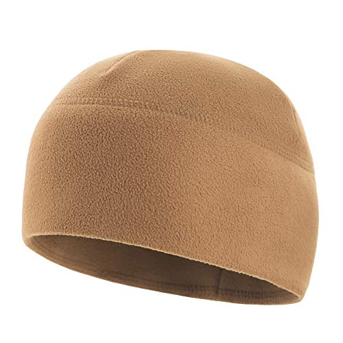 M-Tac Tactical Beanie Fleece Watch Cap Military Army Winter Hat Warm Elite (Coyote Brown, XL)