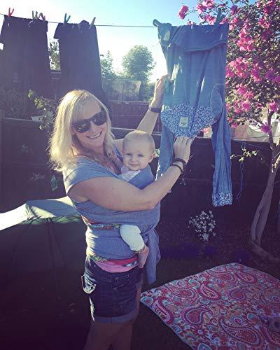 •NEUE DEUTSCHE VERÖFFENTLICHUNG!• DaisyGro™ Premium Baby Tragetuch | 2 GRÖSSEN OPTIONEN | Baby Wickeltuch | Neugeborene, Säuglinge, Kleinkinder | Still-Abdeckung | atmungsfähige weiche Baumwolle | grau | Ideales Geschenk - 5