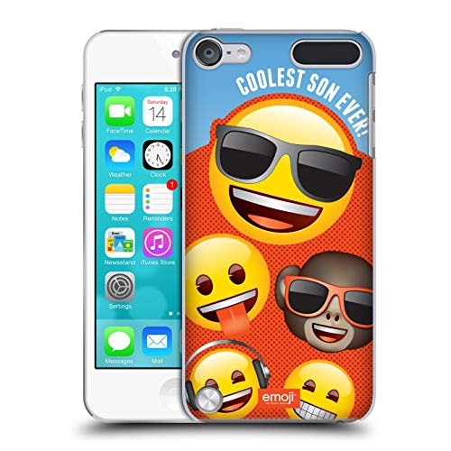 Head Case Designs Officially Licensed by Emoji Coolest Son Celebration Cases Hard Back Case Compatible with Apple iPod Touch 5G 5th Gen