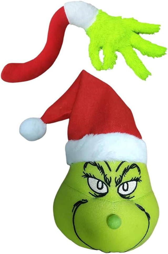 2 piezas Grinch Decoración del árbol de Navidad Encantador Grinch Elf Brazo Ornamento Titular Grinch Felpa Muñeca Niños Regalos para el Hogar Fiesta Decoración Accesorios