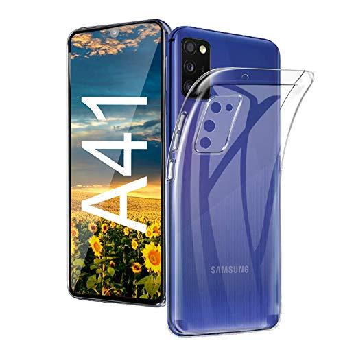 Preisvergleich Produktbild Wlife Hülle Kompatibel Samsung A41, Slim Transparent Weich Anti-Vergilbung TPU Schutzhülle, Anti-Fingerabdruck,  Anti-Kratze Qualität Stoßfest durchsichtig Silikon Handyhülle für Samsung A41(4G)