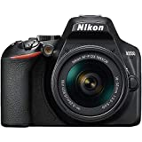 Nikon D3500 - Cámara Réflex, Kit con Objetivo 18/55, 24.2 MP, DX, CMOS, montura F, ISO 100-25600, USB, LCD TFT de 3.2', botón AE-L/AF-L, CPU, Modo Automático, color negro