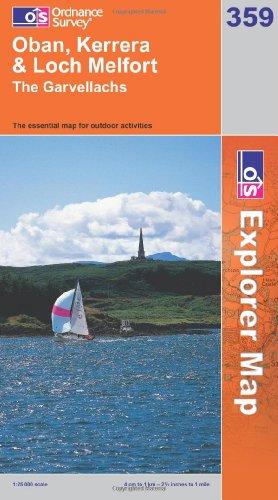 OS Explorer map 359 : Oban, Kerrera & Loch Melfort