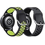 KIMILAR [2 Piezas Correa Compatible con Samsung Galaxy Watch 3 41mm/Watch Active/Active 2 (40mm/44mm)/Watch 42mm Correa de Silicona, Correa Deportiva Compatible con Garmin Vivoactive 3/Vivomove
