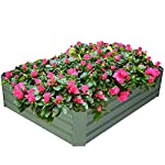 2-pack outoorraised garden bed galvanized planter box anti-rust coating planting vegetables herbs and flowers for… 8 wonderful planter box - 32in x32in x 12in square galvanized raised garden bed provide good drainage, keep weeds away from soil, defense against pests, and protect your plants; you can plant your favorite plants in your patio with this wonderful gardening tools. Safety material & edges - made of galvanized steel; which is rustproof and safe material ;do not contaminate soil, safe for plants and humans; outdoor bed kit edges are not sharp and will not hurt your fingers. High strength - metal piece designed with wave structure,provide better pressure resistance; thickened steel and reinforced corners can easily hold the soil and the plants.