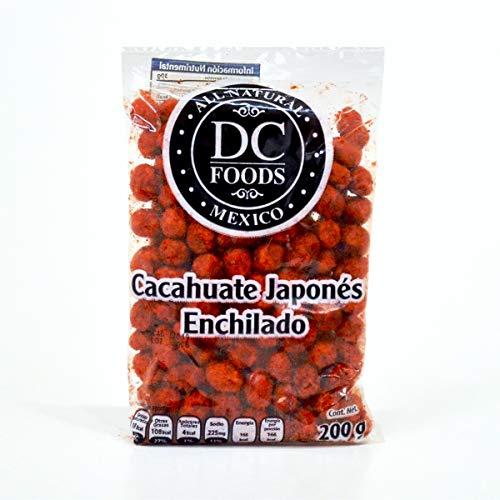 calorias de 100 gramos de cacahuates enchilados