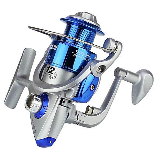 KPOON Angelrolle 1000-7000 Angelrolle Fisch Rad Fisch Rad Angelrolle Angel Seebrachsens Rad Sea Fishing-Rad-Kunststoff-Kopf-Silber-Blau Spinnrolle (Color : Photo Color, Size : 4000)