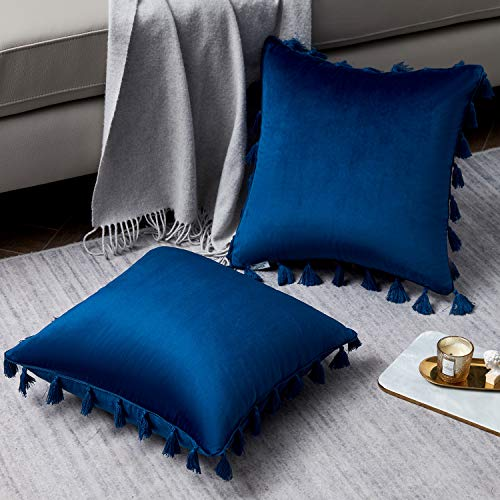 Pack of 2 Boho Throw Pillow Covers with Tassels $6.00 (60% OFF)