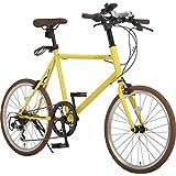 アルテージ(ALTAGE) 自転車 ミニベロ 20インチ 小径車 シマノ製7段変速 AMV-001 イエロー