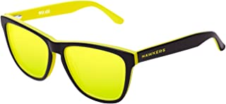 Hawkers Men's HAWKERS X STEVE AOKI NEON ACID HNX03 Rectangular Sunglasses, Yellow, 12 mm