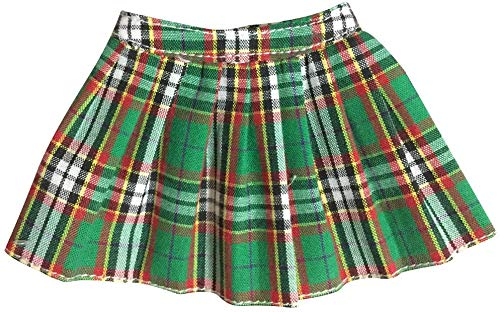 ZSMD 1/6 plooirok minirok jurken rok gebruik voor 12 inch actie figuur - groene plaid