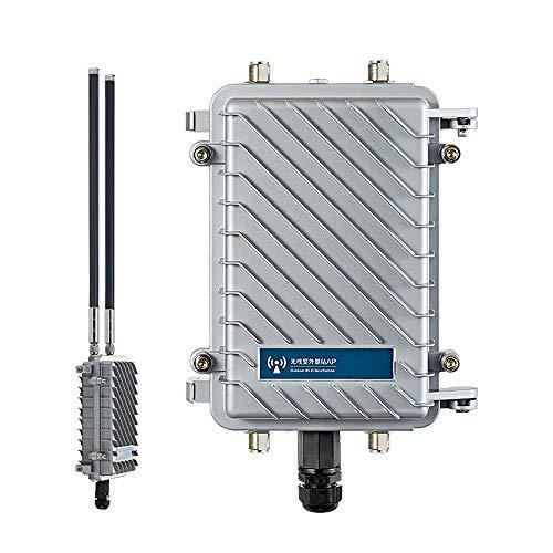 300 Mbit/s Wireless Access Point, CPE / AP Wasserdichter Outdoor-Basisstation Access Point mit 18-dBi-Panel-Antennenunterstützung Wireless AP, Gateway, WLAN-Repeater, Bridge, WISP