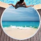 YURONG Toalla de Manta de Playa Redonda, Toallas de Playa para Mujer, Toalla de...