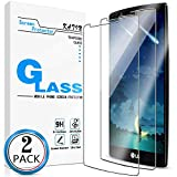 KATIN LG G4 Screen Protector - [2-Pack] LG G4 Tempered Glass Screen Protector Bubble Free, 9H Hardness with Lifetime Replacement Warranty
