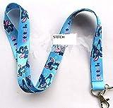 Stitches and lilo Lanyard keychain Charm ID Holder