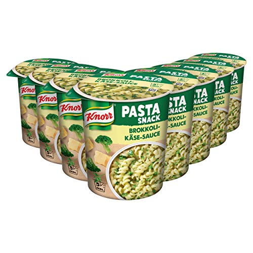 Knorr Snack Bar Nudeln in Brokkoli-Käse-Sauce, 8er Pack (8 x 69 g)