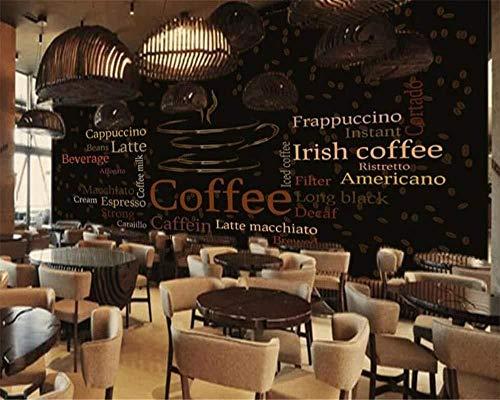 Mrlwy Wallpaper Hintergrundbild Benutzerdefinierte Tapete Brief Kaffeetasse Cafe Wandbild Wohnkultur 3D Wohnzimmer Schlafzimmer Hintergrund Wände Wandbild 3D Wallpaper-150X120CM