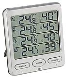TFA-Dostmann Wireless Thermometer Hygrometer Klima-Monitor TFA 30.3054 Room Climate Control (Silver)