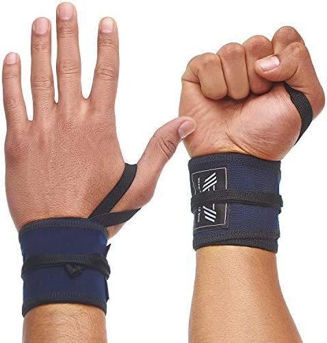 WARM BODY COLD MIND Premium Cotton Wrist Wraps for Crossfit Olympic Weight Lifting Powerlifting product image