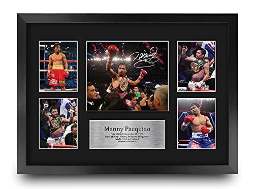 HWC Trading FR A3 Manny Pacquiao Boxing Geschenken Gedrukte Gesigneerde Handtekeningfoto Voor Fans Van Boxer-Memorabilia…