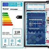 COSTWAY Kühlschrank mit Gefrierfach Standkühlschrank Gefrierschrank Kühl-Gefrier-Kombination / 91L / Schwarz - 8