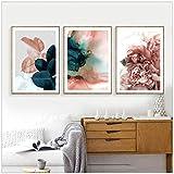 Wandbilder Für Wohnzimmer Blatt Bild Nordic Poster Floral