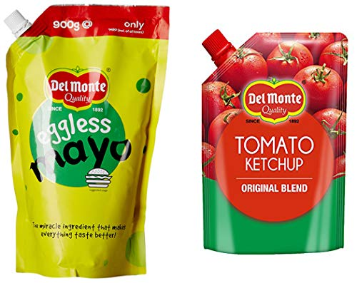 Del Monte 950gm tomato ketchup original blend and Del Monte Eggless Mayonnaise...