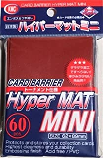 KMC Sleeves MHM1607 Deck Protectors Mini Hyper Red44; Pack - 60