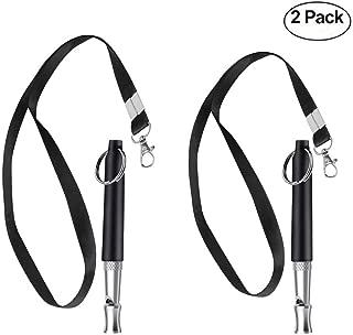 kathson Dog Whistle,Dog Training Whistle to Stop Barking, Adjustable Frequency Ultrasonic Sound Training Tool Dog Bark Control (2 Pcs).