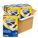 Four boxes with 12 snack packs each, 48 total snack packs, of Handi-Snacks OREO Cookie Sticks 'N Crème Dip Snack Packs The same, rich OREO creme from milk's favorite cookie Chocolate cookie sticks are perfectly dippable Quick snack to toss in backpac...