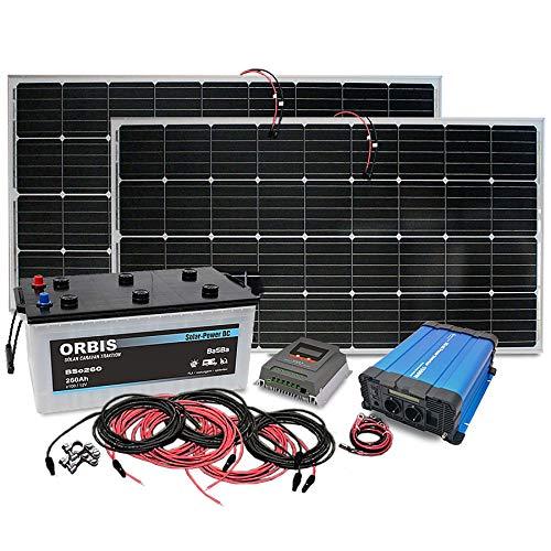 Insel Solaranlage PV-Anlage 1500W AC/Panel, Batterie, Laderegler, Sinus Wechselrichter