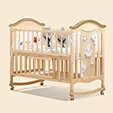 BabyTeddy® 9 in 1 Convertible Forest Theme Baby Crib Wooden Cot Bed Swing