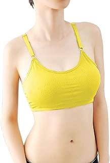Sutiã esportivo feminino com costas nadador da REYO para ioga, academia, elasticidade, ginástica, sem costura, push up, corrida, acolchoado