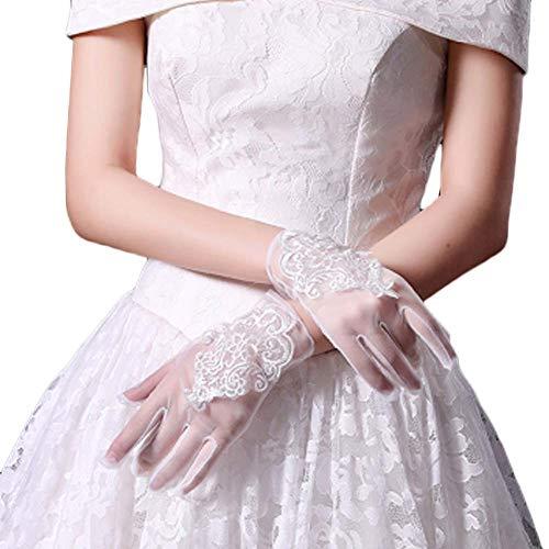 Gants de mariée mariage robes de soirée dentelle gants courts B08