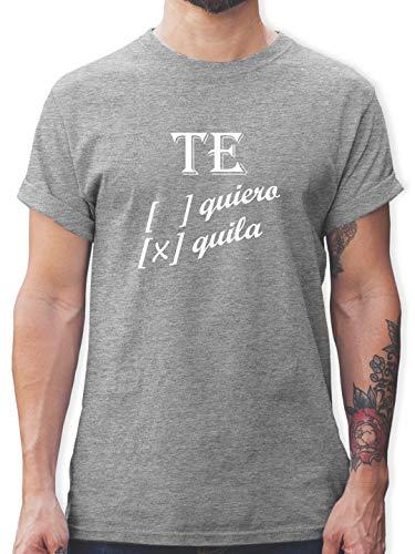 Statement - Te Quiero, Tequila - L - Grau meliert - Tshirt Alkohol - L190 - Tshirt Herren und Männer T-Shirts